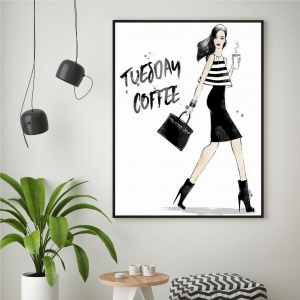 D3 - Plakat na ścianę - TUESDAY COFFEE